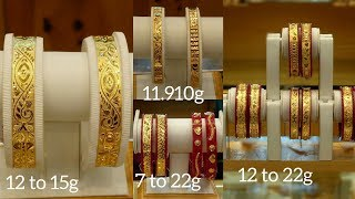 Download Bengoli Shakhapola Bandhano Chure Pola Stylish Gold Bangles designs with WEIGHT and PRICE Video