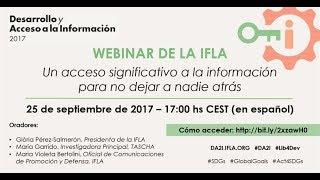 Download Webinar de la IFLA: Desarrollo y Acceso a la Información (DA2I) Video