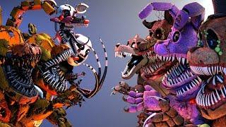 Download [FNaF SFM] Twisted Animatronics VS. Jack-O FNAF's (Five Nights At Freddy's Animation) Video