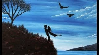 Download Acrylic Painting on Canvas Easy & Simple - Couple in Love Video