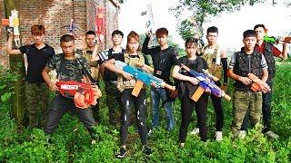 Download Superhero action Boss Girl Nerf guns Team killer Sister Revenge 10 years Nerf war Video