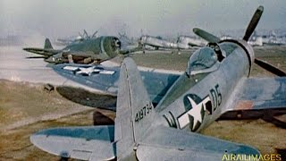 Download Thunderbolt and Lightning - Wartime ETO P-47s and P-38s in Color Video