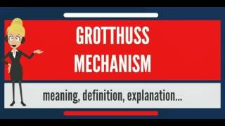 Download What is GROTTHUSS MECHANISM? What does GROTTHUSS MECHANISM mean? GROTTHUSS MECHANISM meaning Video