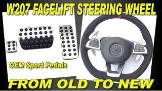 Download Mercedes Facelift steering wheel sport pedals trim retrofit W212 W204 W166 W207 Video