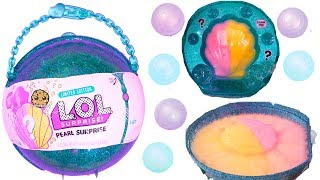 Download LOL Pearl Surprise Blind Bag Ball with Fizz Shell In Water - Toy Video Video