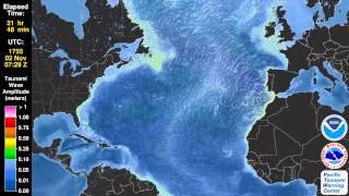 Download Tsunami criado pelo terramoto de Lisboa - 1755 Video