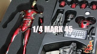 Download [UNBOXING] Avengers: AOU 1/4th scale Mark XLV Collectible Figure By Hot Toys Video