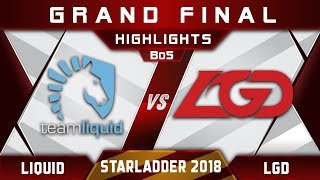 Download Liquid vs LGD Grand Final Starladder i-League 2018 Highlights Dota 2 Video