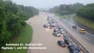 Download Gewitter mit Überschwemmungen in der Ostschweiz 14. Juni 2015 Video