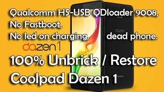 Download Unbrick Coolpad Dazen1 Qualcomm HS-USB QDloader 9008, No Fastboot, no led on charging, dead phone. Video