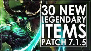 Download WoW Legion Patch 7.1.5 - The 30 New Legendary Items Video