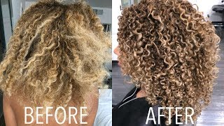 Download CURLY HAIR ROUTINE 2018! Styling + DIY Trim Video