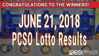 Download PCSO Lotto Results Today June 21, 2018 (6/49, 6/42, 6D, Swertres, STL & EZ2) Video