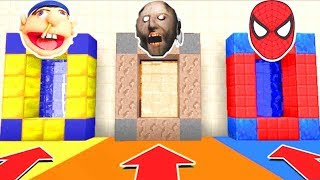 Download Minecraft PE : DO NOT CHOOSE THE WRONG SECRET BASE! (Granny, Jeffy, Spiderman) Video