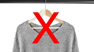 Download The Best Way to Hang a Sweater So It Doesn't Get Stretched Out Video