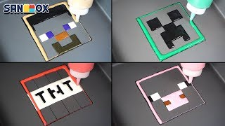 Download Minecraft Pancake art - Creeper, TNT, Steve, Pig Video