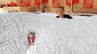 Download 1,000,000 Packing Peanuts Secret Hidden FORT Hide and Seek!! Video