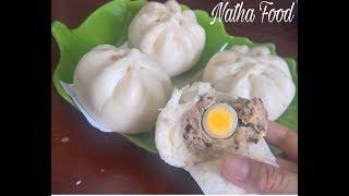 Download Bánh bao nhân thịt đặc biệt và cách gói dễ ơi là dễ || steamed buns || Natha Food Video