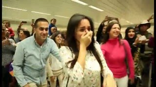 Download Bruno Mars Marry You Flash Mob Proposal Jacob and Eliane - Beirut Rafic Hariri International Airport Video
