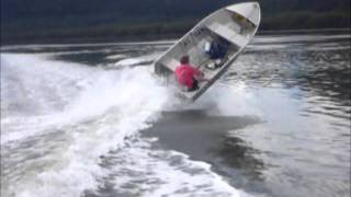Download Small boat flips onto its side Video