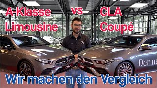 Download Der ultimative Vergleich: A-Klasse Limousine vs. CLA Coupé in AMG line | Karosserie | Technik | Maße Video