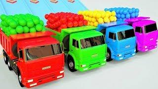 Download Transport par camion et la voiture ballons de foot Video