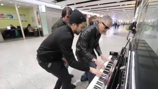 Download THREE PIANO DUDES BOOGIE WOOGIE THE AIRPORT Video