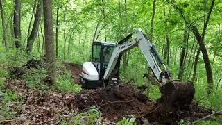 Download Dug way road E35 Bobcat mini excavator Video