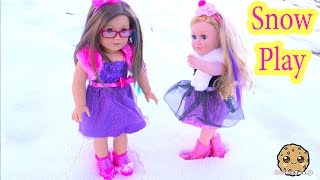Download Snow Play Boots + Dresses Clothing Review for American Girl + My Life As Cupcake Baker Doll Video