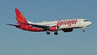 Download [4K] SpiceJet Boeing 737 MAX 8 Landing & Takeoff at Prestwick Airport Video
