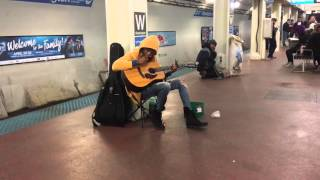 Download Subway performer stuns crowd with Fleetwood Mac's ″Landslide″- Chicago, Il- Blue Line, Washington S Video