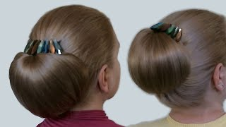 Download Updo Hairstyles| Bun with Hair Bow for Long Hair| Hairstyle ″Babette″| Tutorial Video