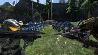 Download Halo 3 AI Battle - Spartan IIs vs Elites Video