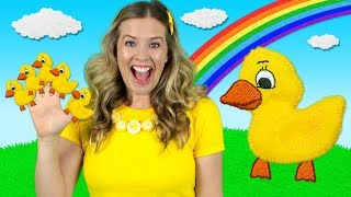 Download Five Little Ducks | Kids Songs & Nursery Rhymes | Learn to Count the Little Ducks Video
