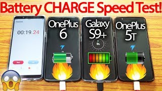 Download OnePlus 6 vs Galaxy S9+ Plus vs OnePlus 5T -Battery Charging Speed Test!🔥 Video