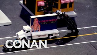Download LIVE Footage Of Trump's Motorcade In Los Angeles - CONAN on TBS Video