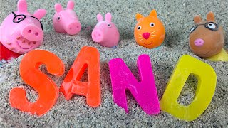 Download Peppa Pig Spells A Word Sand Box - Learn the ABCD - Educational learn the alphabet Video