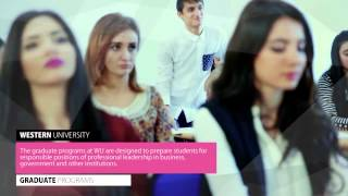 Download Western University, Azerbaijan Students are leaders of future world Video