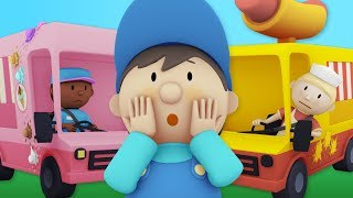 Download Hot Dogs And Ice Cream! YUM! Carl Washes Food Trucks at Carl's Car Wash! | Cartoons For kids Video