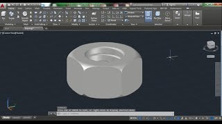 Download AutoCAD 3D Nut How to Draw Nut, Nut 3D Training Beginner Video