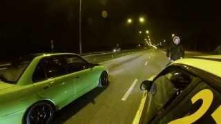 Download Subaru Impreza WRX STI vs Mitsubishi Lancer Evo 2 illegal drag race Video