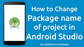 Download How to Change Android Studio Project Package Name without Errors Video