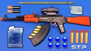 Download Realistic AK47 Toy Gun | Water Gel Ball Bullet Machine Gun Toy | Nerf Darts Shooting Toy Guns Video