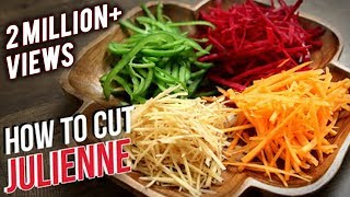 Download How To Julienne Vegetables   Knife Skills   The Bombay Chef - Varun Inamdar   Basic Cooking Video
