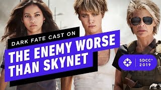 Download Terminator: Dark Fate Cast on the Enemy Worse Than Skynet - Comic Con 2019 Video