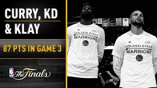 Download Top Performers: Durant, Curry, Thompson Combine For 87 In Game 3 Video