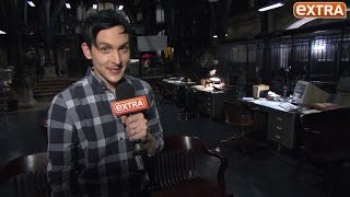 Download Robin Lord Taylor aka The Penguin Gives 'Extra' a Tour of 'Gotham' Set Video