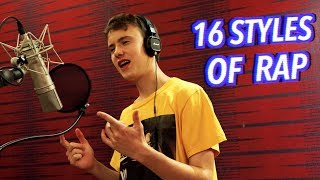 Download 16 Styles of Rapping! (J Cole, Mac Miller, Lil Peep, Eminem) Video