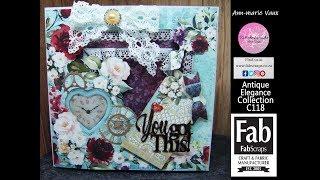 Download 20. Cardmaking Tutorial: FabScraps Antique Elegance Double Frame Card Video