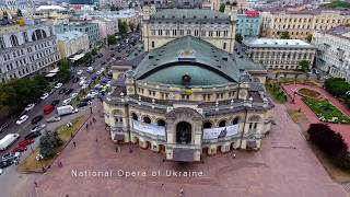 Download 4K Kyiv fly aerial video National Opera of Ukraine . Национальная Опера с Высоты Птичьего Полета. Video